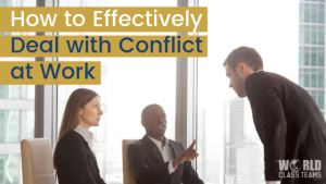 Office workers argueing - how to deal with conflict at work