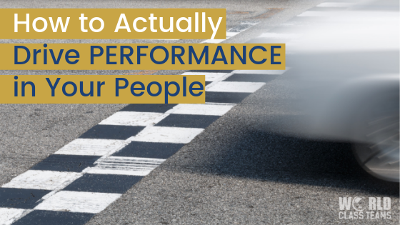 Car racing by - how to actually drive performance in your people