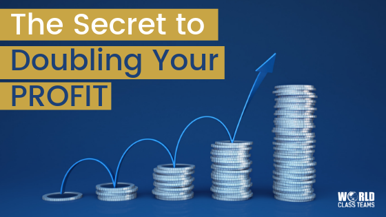Coins in ever increasing pile sizes - the secret to doubling your profit