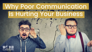 Two men listening to empty jars connecting by string - Why Poort Communication is Hurting Your Business
