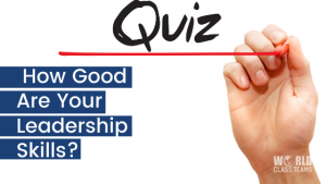Hand writing the word quiz - how good are your leadership skills?