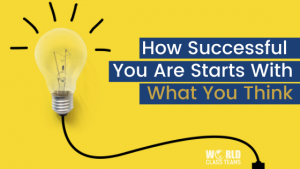 Light bulb - how successful you are starts with what you think