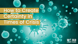 Virus image - how to create certainty in times of crisis