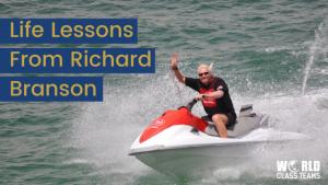 Richard Branson on a JetSki