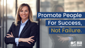 Woman crossing arms and smiling in front of office - promote for success not failure