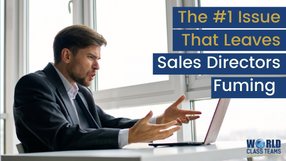 sales director staring frustrated at laptop
