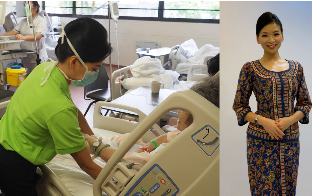 Singapore Cabin Crew working in Hospital